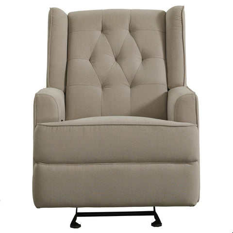 Pulaski Traditional Shelter Back Recliner Glider in Fresh Dune