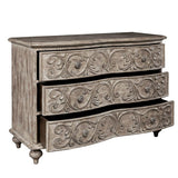 Pulaski Traditional Style Pecan Three Drawer Accent Storage Chest