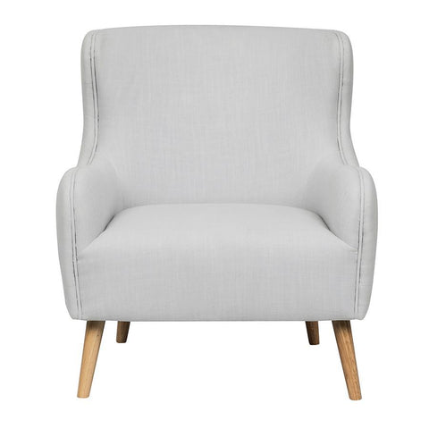 Pulaski Tufted Back Upholstered Arm Chair in Cool White