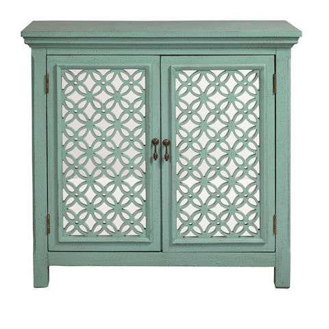 Home Fare Two Door Green Accent Chest
