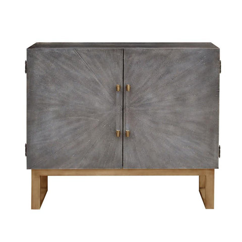 Pulaski Two Door Shagreen Bar Cabinet in Grey