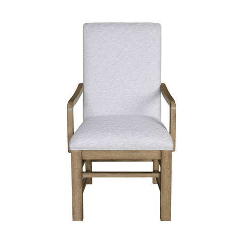 Pulaski Two-Tone Casual Dining Arm Chair in Grey & Birch Brown