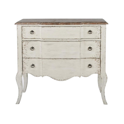 Pulaski Two Tone White & Brown Accent Chest
