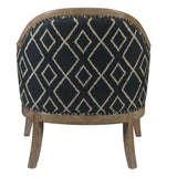 Pulaski Two-Tone Wood Frame Accent Chair in Multi