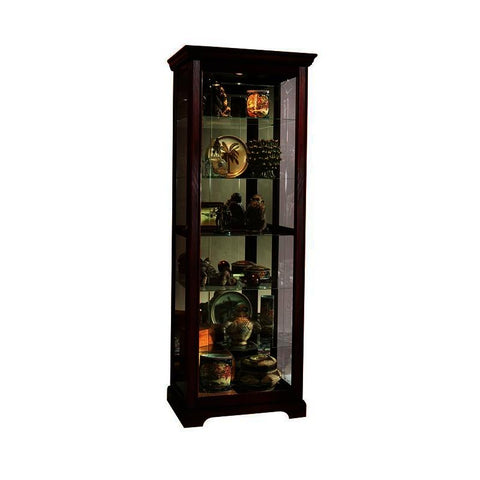 Pulaski Two Way Sldg Door Curio Victorian Cherry