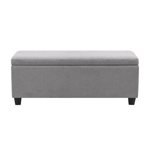 Pulaski Upholstered Shoe Storage Bench in Glacier Grey