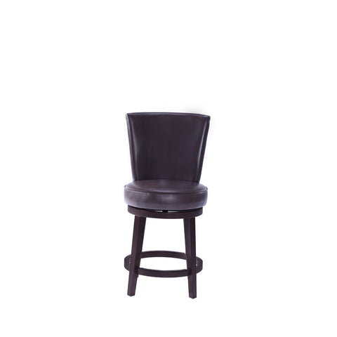 Pulaski Upholstered Swivel Barstool in Chocolate Brown