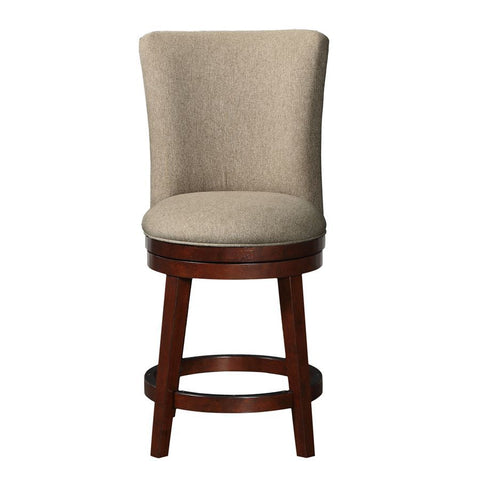 Pulaski Upholstered Swivel Barstool in Woven Tan