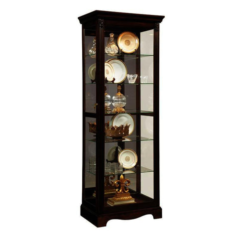 Pulaski Warm Cherry Mirrored Back Curio