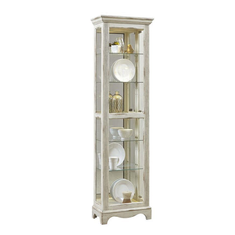 Pulaski Weathered White Display Cabinet
