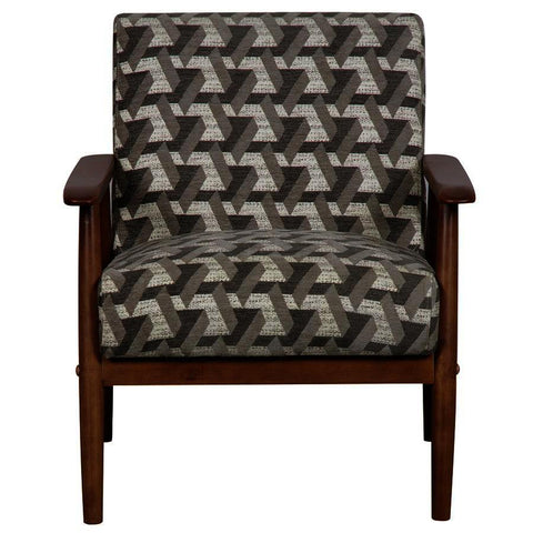 Pulaski Wood Frame Accent Chair in Prism Flannel