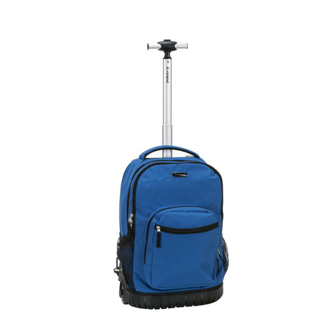 "Rockland 19"" Rolling Backpack In Blue"