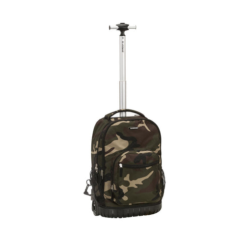 "Rockland 19"" Rolling Backpack In Camo"