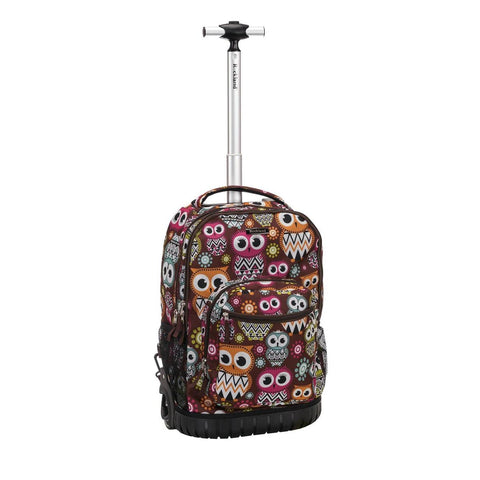 "Rockland 19"" Rolling Backpack In Owl"