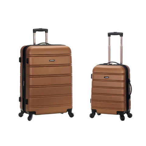 "Rockland 20"", 28"" 2 Piece Expandable Abs Spinner Set In Brown"