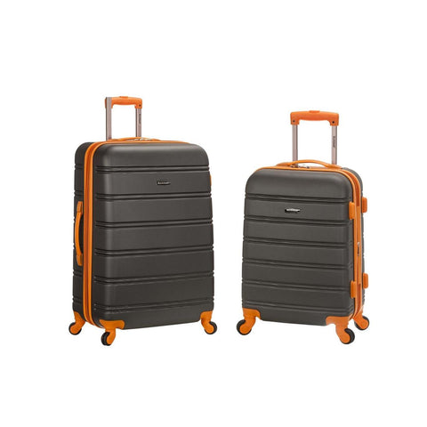 "Rockland 20"", 28"" 2 Piece Expandable Abs Spinner Set In Charcoal"