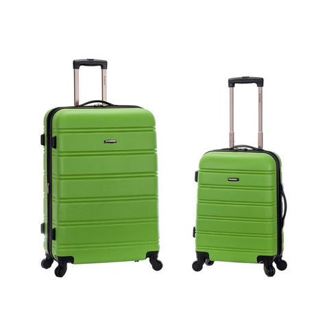 "Rockland 20"", 28"" 2 Piece Expandable Abs Spinner Set In Green"