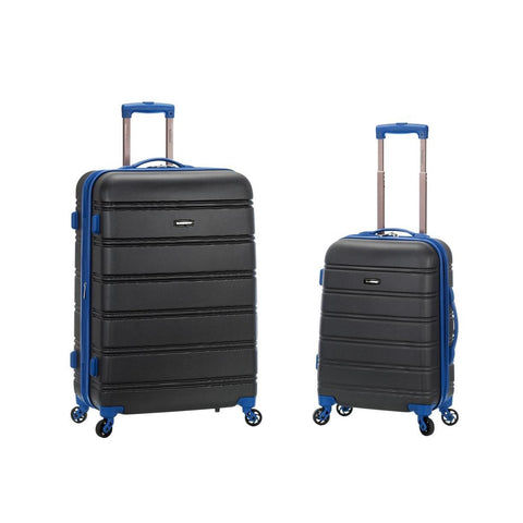 "Rockland 20"", 28"" 2 Piece Expandable Abs Spinner Set In Grey"