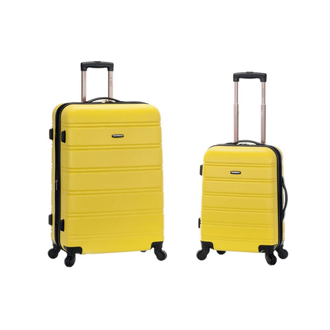 "Rockland 20"", 28"" 2 Piece Expandable Abs Spinner Set In Yellow"