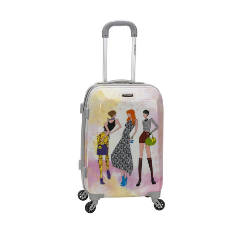 "Rockland 20"" Polycarbonate Carry On In Fashion"