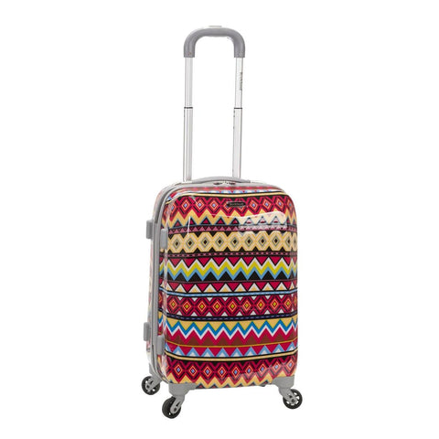 "Rockland 20"" Polycarbonate Carry On In Tribal"