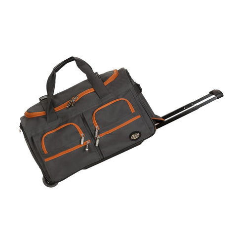 "Rockland 22"" Rolling Duffle Bag In Charcoal"