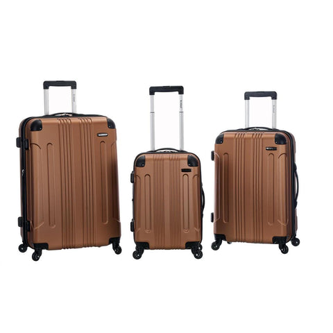 Rockland 3 Piece Sonic Abs Upright Set In Brown