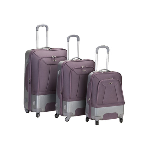 Rockland 3 Rome Piece Luggage Set in Lavender