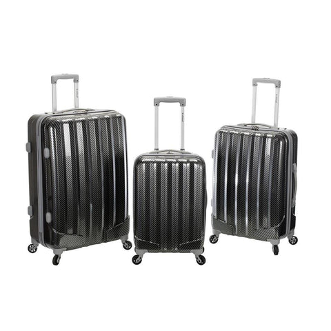 Rockland 3Pc Metallic Polycarbonate/Abs Upright Set In Fiber