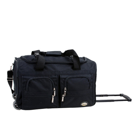 "Rockland Black 22"" Rolling Duffle Bag"