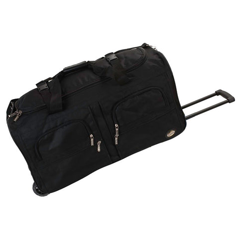 "Rockland Black 30"" Rolling Duffle"