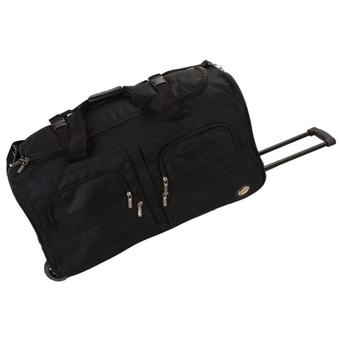 "Rockland Black 36"" Rolling Duffle"