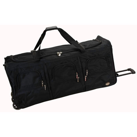 "Rockland Black 40"" Rolling Duffle"