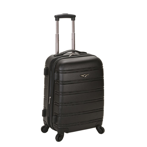 "Rockland Black Melbourne 20"" Expandable Abs Carry On"
