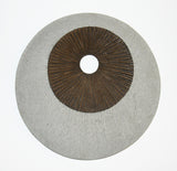 Screen Gems Round Double Layer Wall Decor Ribbed Finish