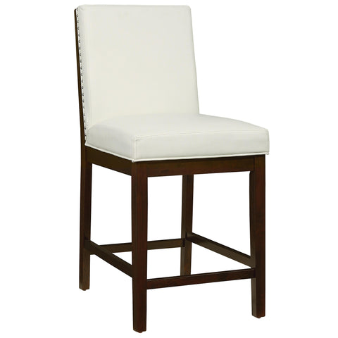 Standard Couture Elegance Upholstered Counter Height Chair Pair In White