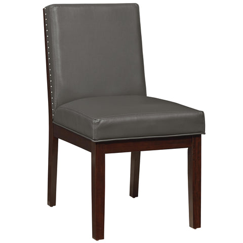 Standard Couture Elegance Upholstered Side Chair In Gray