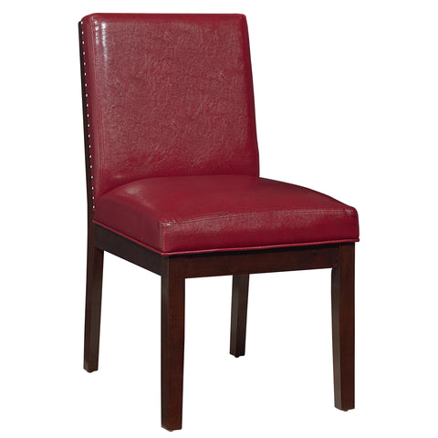 Standard Couture Elegance Upholstered Side Chair Pair In Red