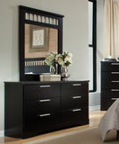Standard Furniture Atlanta 6 Drawer Dresser in Ebony Black