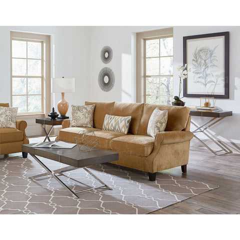 Standard Furniture Ava 3 Piece Coffee Table Set in Smoky Brown