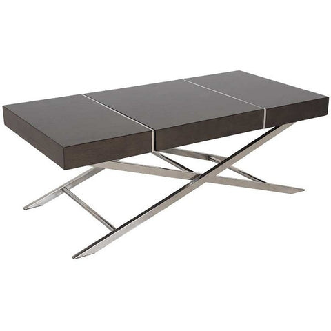 Standard Furniture Ava Cocktail Table in Smoky Brown