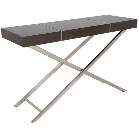 Standard Furniture Ava Console Table in Smoky Brown