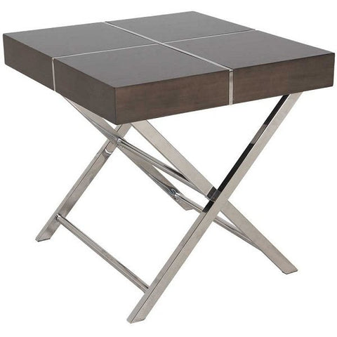 Standard Furniture Ava End Table in Smoky Brown