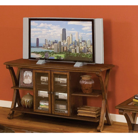 Standard Furniture Barcelona 54 Inch Console TV Table in Cherry