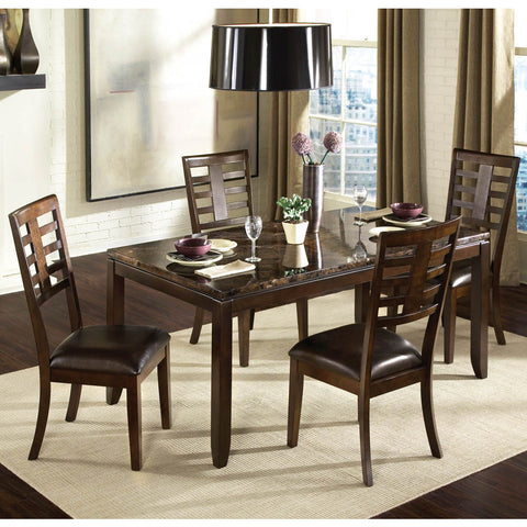 Standard Furniture Bella 5 Piece Dining Room Set w/ Faux Marble Top