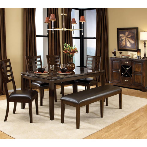 Standard Furniture Bella 7 Piece Dining Room Set w/ Bench