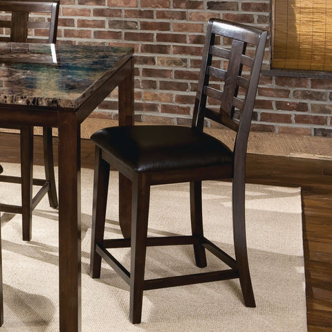 Standard Furniture Bella Counter Height Stool in Walnut