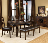 Standard Furniture Bella 7 Piece Dining Room Set w/ Faux Marble Top