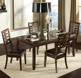 Standard Furniture Bella 6 Piece Dining Room Set w/ Faux Marble Top