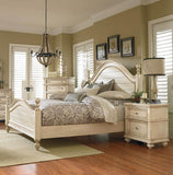 Standard Furniture Bennington White 4 Piece Poster Bedroom Set in Antique French Bisque